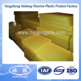 75-95 costa uma folha do poliuretano feita com material 100% transparente amarelo do Virgin