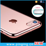 Crystal Clear Electroplated Teléfono de TPU para iPhone 7/6 Plus