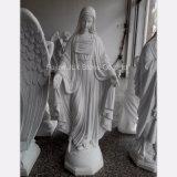 China mármol blanco de Santa María Escultura