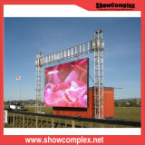 옥외 최신 가격 P6 발광 다이오드 표시 스크린 단계 배경 LED 벽