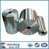 Papel de aluminio en rodillo enorme