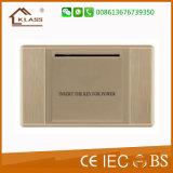 Três de alta qualidade Pista Interruptor de parede Golden PC 10A