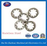 Stahlzahn-Sprung-Federring-Metalldichtung der unterlegscheibe-DIN6797j interne