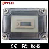 Batería al aire libre dentro del contador de sobretensiones con 6 contadores de rayos digitales