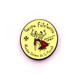 La promoción de estaño imán personalizado personalizado regalo insignia bandera parpadeante de bronce