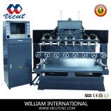 Ranurador Multi-Spind del CNC de la carpintería con la máquina de grabado de madera rotatoria del eje (VCT-TM2512R-12H)