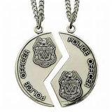 昇進の銀製のエナメルの金属の警察メダル