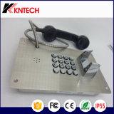 Botão de metal em aço inoxidável Knzd-07Telefone um telefone de emergência