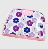 Le sac imperméable à l'eau coloré de renivellement durable le plus neuf de configuration de fleur de sac cosmétique de matériau et de tirette