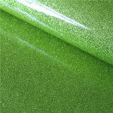 Hochwertige Knicke freies Spiegel-Oberfläche PU-Chemiefasergewebe-Leder