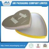 Scatola di cartone bianca di cioccolato del cuore del fornitore a forma di del contenitore con i divisori