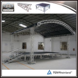 Для использования вне помещений стадии опорных алюминиевых опорных крыши с арками