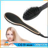 Straightener cerâmico elétrico do cabelo da escova do indicador do LCD