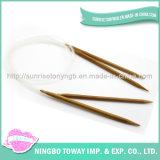 Melhor agulhas Pointed dobro circulares de bambu barato de confeção de malhas para a venda