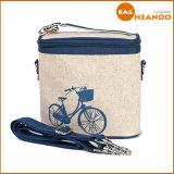 Sacchetto di spalla funzionale della tela di canapa del sacchetto del dispositivo di raffreddamento di semplicità del fumetto della bicicletta