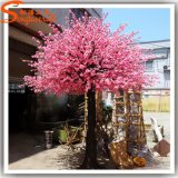 Albero artificiale bianco del fiore di ciliegia della vetroresina domestica della decorazione