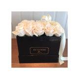 Contenitore acrilico quadrato libero di lusso di fiore per Rosa e cioccolato