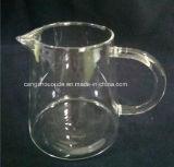 Potenciômetro bebendo da água de vidro resistente ao calor