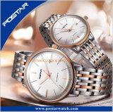 Het dubbel Overkoepelde Horloge van het Roestvrij staal van het Glas Automatische