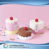 Rectángulo de empaquetado de papel de la cartulina linda para la torta del alimento (xc-fbk-033)