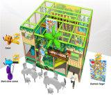 Campo de jogos interno temático da selva da segurança do divertimento do elogio para miúdos