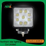 Lumières fonctionnantes bon marché 27W de DEL lumière automatique de travail de faisceau d'inondation d'endroit d'Epistar de 4 pouces