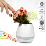 Muti-kleur de Lichte Plastic Slimme Bloempot van de Muziek met Spreker Bluetooth