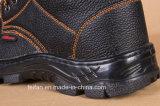Zapato de seguridad del cuero genuino con PU Outsole