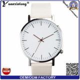 Yxl Moda-493 Carcasa de acero inoxidable 316L Men's Watch cuarzo cristal de zafiro los hombres de cuero auténtico Ver señoras encantadoras moda relojes