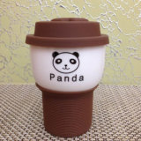 De Kop van de koffie met Deksel en Silicone Cindy Color Fastener Cup
