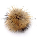 装飾のための最上質の普及した実質のアライグマの毛皮の球