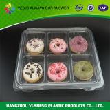 Container van Donuts van het Huisdier van het compartiment de Plastic