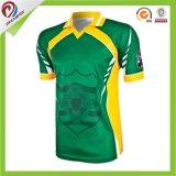 Críquete feito sob encomenda Jersey da equipe da camisa de polo da impressão do Sublimation