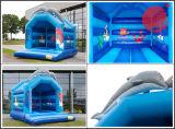 2017 новых посчитала нужным надувной замок очаровательный Bouncer Прыжки дельфинов (T1-005)