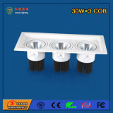 Aluminium 2700-6500k 90W Bridgelux Grille Light for Shopping Mall