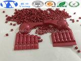 Colore rosso Masterbatch di assicurazione della fabbrica del rifornimento di diffusione commerciale dell'indicatore luminoso per l'HDPE del LDPE LLDPE/di PS del PE del PC/pp