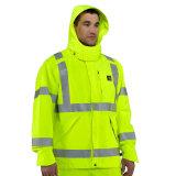 revestimento reflexivo da segurança da visibilidade elevada amarela impermeável