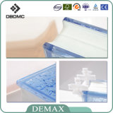 190 * 190 * 80mm Factory Decorativo Transparente Patternglass Block / Glass Brick