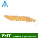 De gouden Magneet van het Neodymium van de Staaf van de Deklaag 28*2*2 met Permanent Magnetisch Materiaal