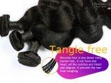 Menschliches natürliches Haar-peruanische Karosserien-Welle des Glücks-Haar-100%
