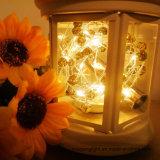 Flaschen-Korken-Zeichenkette beleuchtet Licht der silberner Draht-batteriebetriebenes warmes weißes Zeichenkette-3m30LED für Feiertag/Ausgangs-/Hochzeits-Dekoration