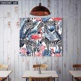 Af:drukken van het Canvas van de Bloemen van het Beeld van de Flamingo van het Wild van het pop-art het Gestreepte