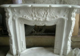 White Marble Fireplace Ancient Modern Fireplace for Home Decoration