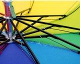 عمليّة بيع حارّ يطوي قوس قزح مظلة