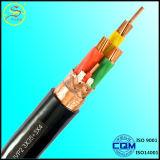 4 cabo distribuidor de corrente médio blindado da tensão 4X95 mm2 do fio de aço dos núcleos
