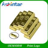 Disco do USB da barra de ouro de Pendrive Thumbdrive da movimentação do flash do USB do metal