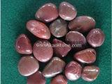 Gravier Polished élevé rouge de pierre de fleuve de caillou pour le jardin