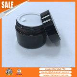 Изготовленный на заказ стеклянный опарник с черной алюминиевой крышкой для косметик