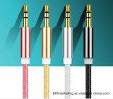 Нейлон высокого качества аудио разъем 3,5 мм 3,5 мм мужской кабель USB-кабель