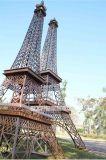 Grande escultura de metal artesanais enfeites da Torre Eiffel para decoração ou decoração de jardim interior e exterior
